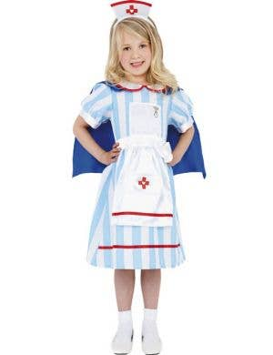 Girl's Old Fashioned Nurse Costume Front View