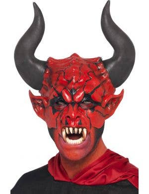 Devil Lord Adult's Red Half Face Mask