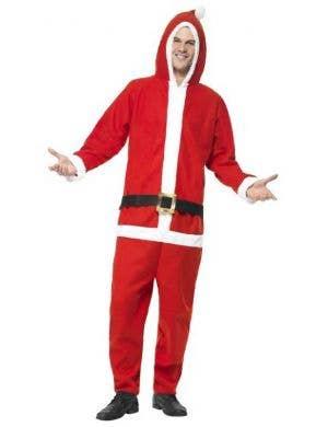 Santa Claus Men's Christmas Onesie Costume Front