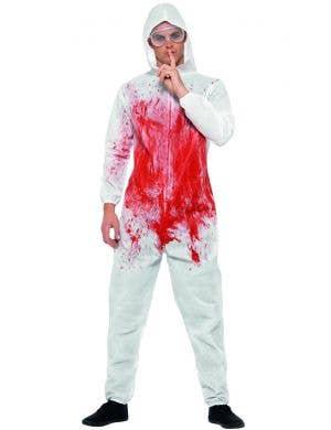Bloody Forensic Men's Halloween Fancy Dress Costume