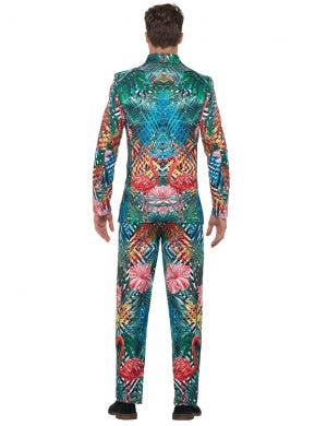 Tropical Hawaiian Flamingo Men's Stand Out Suit Costume