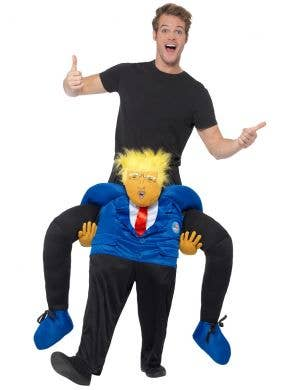 Novelty Adult's Carry Me Ride On President Donald Trump Piggyback Costume Main Image
