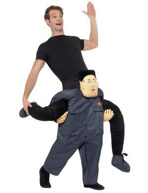 Adult's Novelty North Korean Dictator Kim Jong-un Ride on Piggy Back Costume Image 1