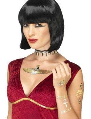 Egyptian Metallic Gold and Silver Fake Tattoos