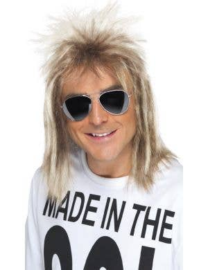 Made In The 80's Men's Blonde Mullet Wig