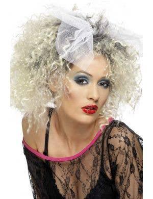 Women's Crimped Blonde 1980's Costume Wig