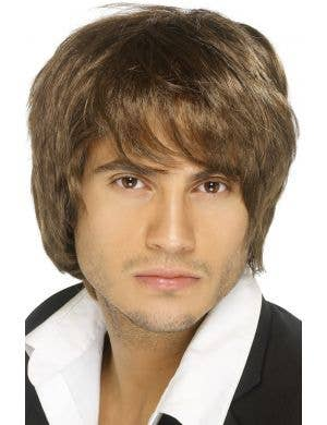 Boy Band Dark Brown Men's Wig