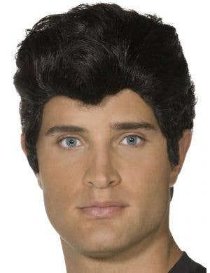 Danny Zuko Men's Black Grease Costume Wig