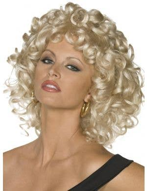 Bad Sandy Women's Curly Blonde Grease Costume Wig