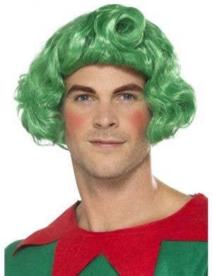 Green Oompa Loompa Men's Costume Wig