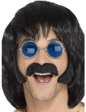 Retro Hippie Men's Moustache and Sideburns Set