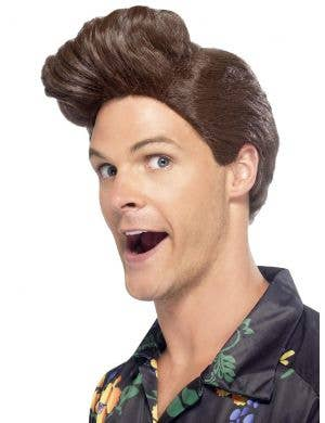 Nineties Pet Detective Men's Brown Costume Wig