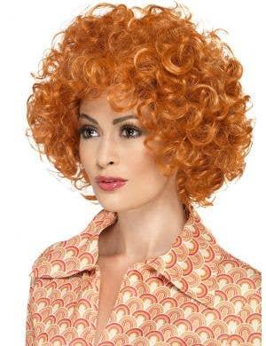 Curly Orange Unisex Afro Costume Wig