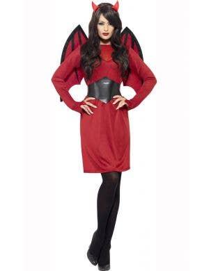 Cheap Red Devil Women's Halloween Costume Main Image