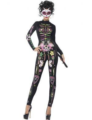 Women's Sexy Day of the Dead Sugar Skull Cat Costume