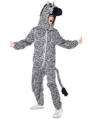 Zebra Adult's Animal Onesie Fancy Dress Costume