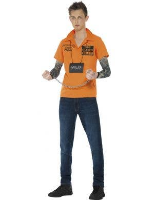 Teen Prisoner Convict Instant Costume Kit By Smiffy's front view