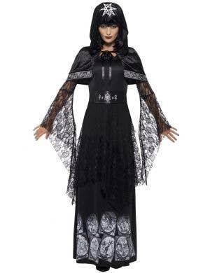 Women's Black Magic Mistress Pagan Costume Front View
