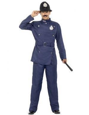 London Bobby Police Officer Blue Fancy Dress Costume Front View