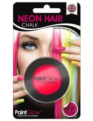 UV Reactive Temporary Hair Chalk - Neon Pink