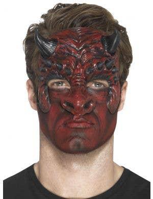 Devil Head Red Latex Special FX Costume Prosthetic