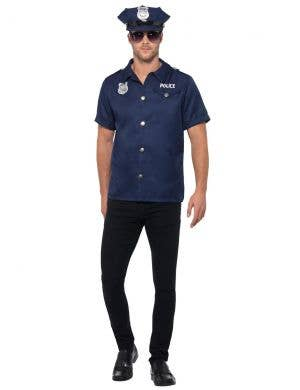 Navy Blue US Cop Uniform Men's Costume
