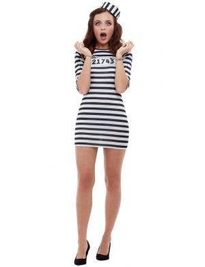 Cute Convict Women's Sexy Jailbird Costume