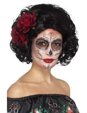 Deluxe Day of the Dead Short Women's Costume Wig