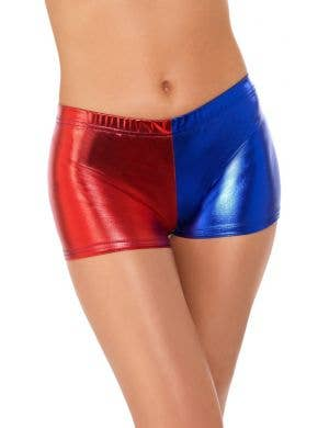 Red and Blue Booty Shorts Women's Costume Accessory Main Image