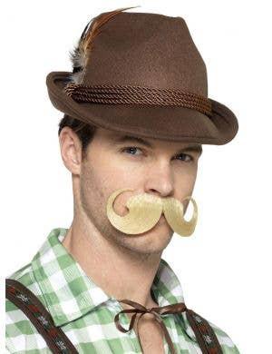 Deluxe Bavarian Brown Trenker Hat Costume Accessory