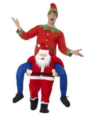 Piggyback Santa Men's Christmas Fancy Dress Costume
