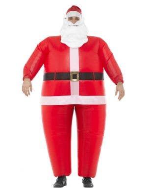 Men's Inflatable Santa Funny Novelty Fancy Dress Costume Main Image