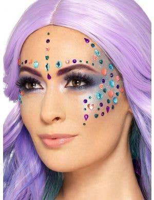 Mermaid Jewel Face Gems Costume Accessory