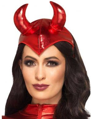 Devil Fever Metallic Red Headband Costume Accessory