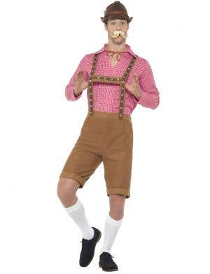 Oktoberfest Men's Mr Bavarian Red and Brown Costume