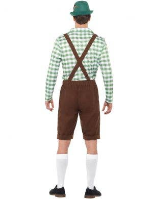 Alpine Men's Bavarian Green Chequered Oktoberfest Costume