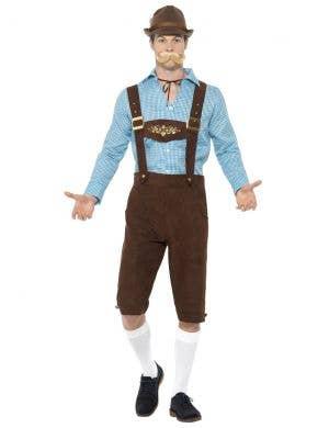 Bavarian Beer Fest Men's Oktoberfest Lederhosen Costume