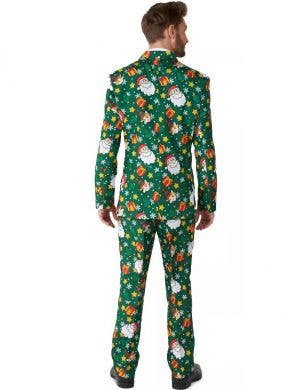 Santa and Elves Men's Green Suitmeister Christmas Suit