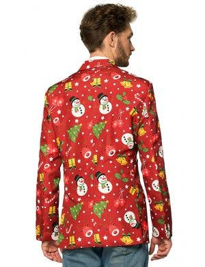 Light Up Red Christmas Icons Men's Suitmeister Costume Jacket