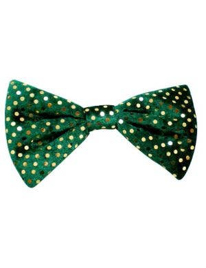 St Patrick's Day Green Velvet Bow Tie Costume Accessory