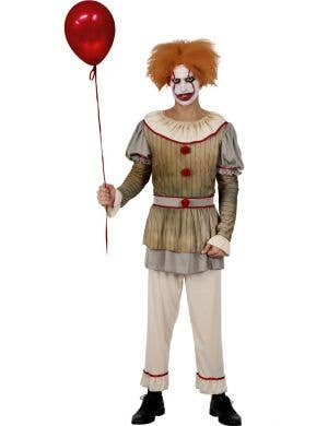 Sideshow Sid Men's Halloween IT Clown Costume
