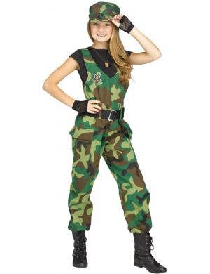 Camo Soldier Costume for Teen Girls