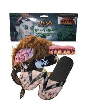 Billy Bob Zombie Halloween Costume Kit with Hair, Feet And Teeth