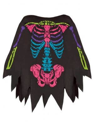 Women's Rainbow Skeleton Print Costume Poncho