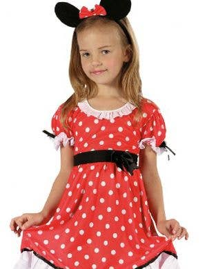 Polka Dot Minnie Mouse Girl's Fancy Dress Costume