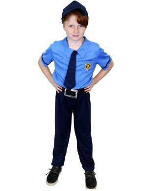 Blue Police Uniform Costume for Boys