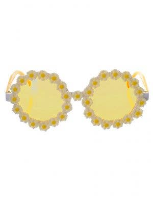 Yellow and White Daisy Hippie Costume Glasses