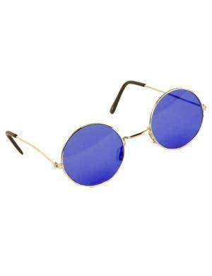 Round Blue John Lennon Hippie Costume Glasses