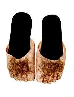 Big Ol' Hairy Feet Big Foot Caveman Adults Halloween Costume Slide Shoes
