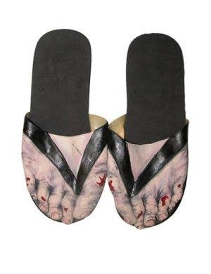 Zombie Novelty Costume Slide Shoes Halloween Accessory